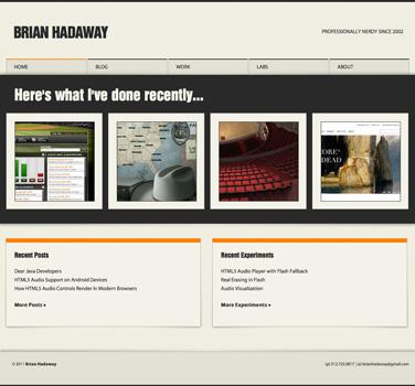 BrianHadaway.com - Tablet Landscape Orientation