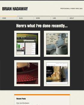 BrianHadaway.com - Tablet Portrait Orientation